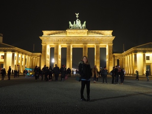 At the Brandenburg Gate, Berlin with Sam Buss of Yokomeshi