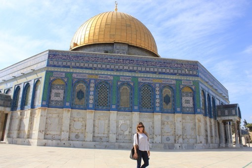 Shannon Kircher at the Dome of the Rock in Jerusalem