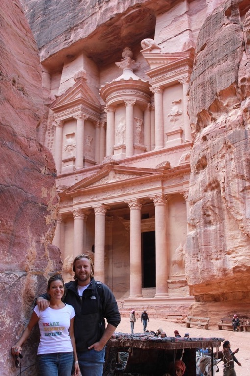Shannon Kircher enjoying the sights of Petra