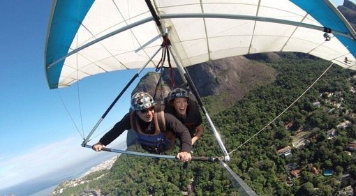Hang gliding in Rio with Shannon Kircher of The Wanderlust Effect