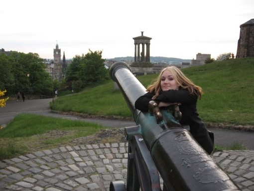 ArtTravelEatRepeat editor Heather Hopkins in Edinburgh, Scotland