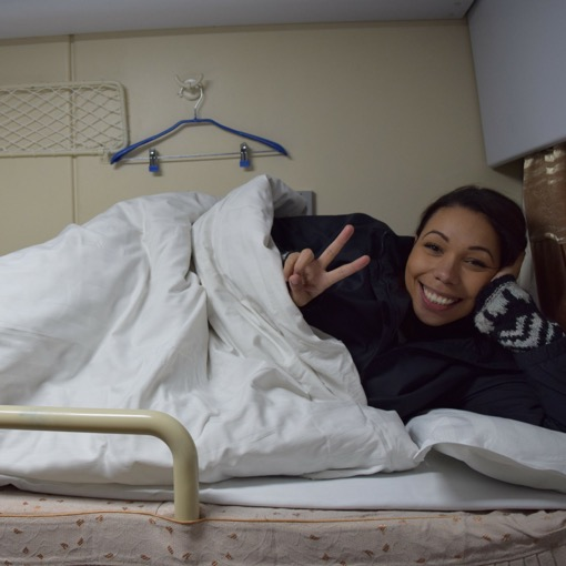 On a Sleeper Train in Vietnam with Jade of Two Tall Travellers