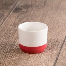 Teavana Two-Tone Dark Pink & White Tasting Cup