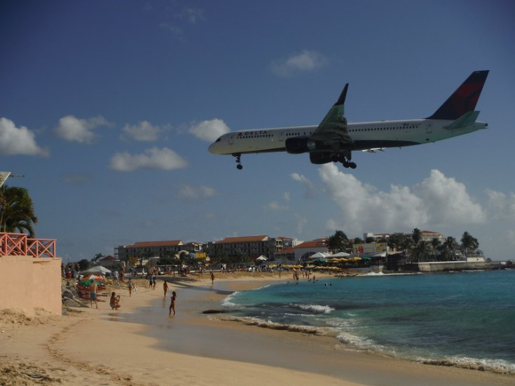 maho beach takeoff. when we were there, stayed at the sonesta ocean point / maho beach resort and enjoyed watching planes land take off all day long. takeoff