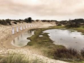 Kunst in de duinen.