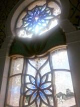 Even the windows of the Grand Mosque were amazing!