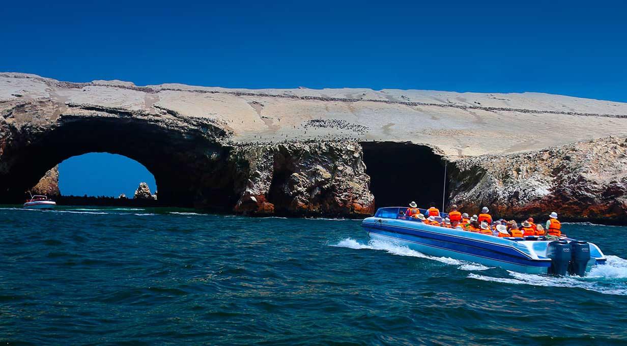 Ballestas Islands in Ica Peru
