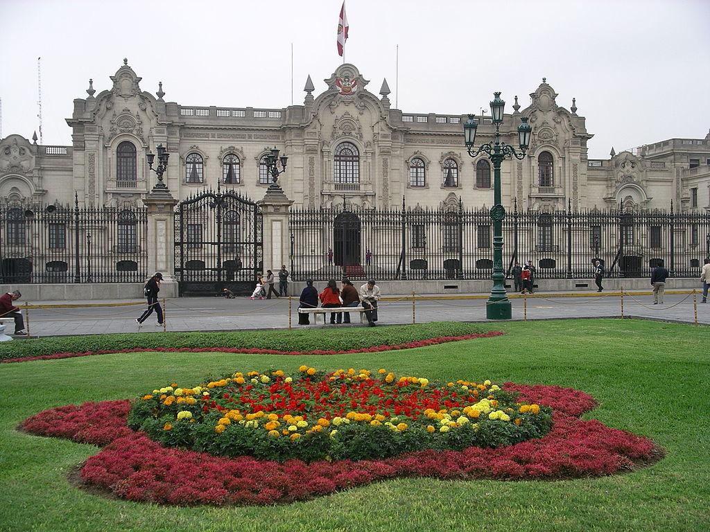 Palacio de Gobierno en Lima Perú