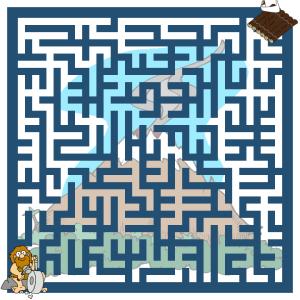 Volcanic island caveman maze rush