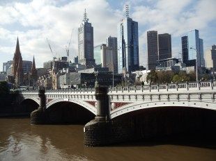 Melbourne skyline from Southgate