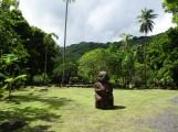 Tiki at Marae Arahurahu