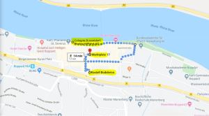 Walking route example in Boppard