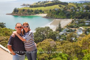 Elena and Yuriy at Waiheke Island, New Zealand