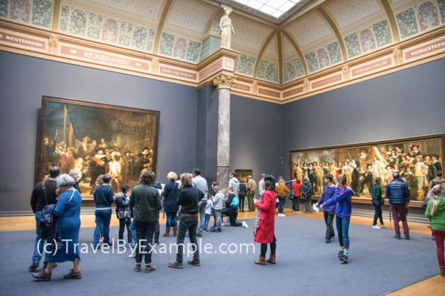 Admiring paintings by Rembrandtin in Rijksmuseum, Amsterdam