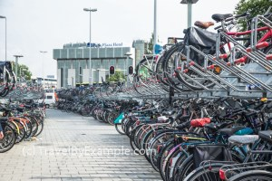 Typical outdoor bike parking in the Netherlands