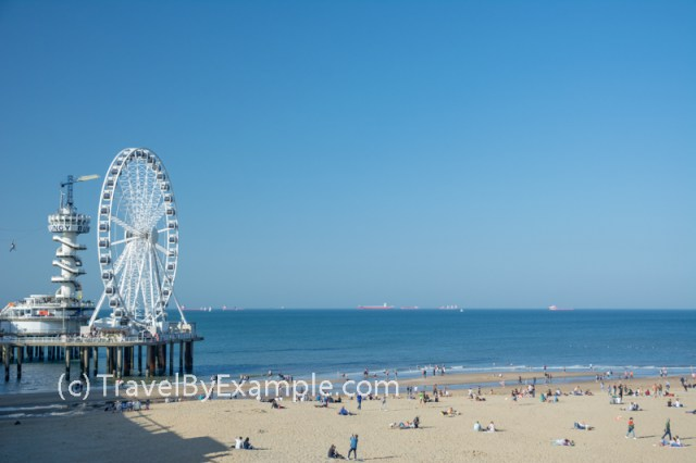 The Pier and ferris wheel in Scheveningen