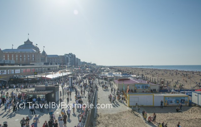 Busy Scheveningen beach