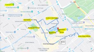 Travel by Example - sample walk in The Hague city center