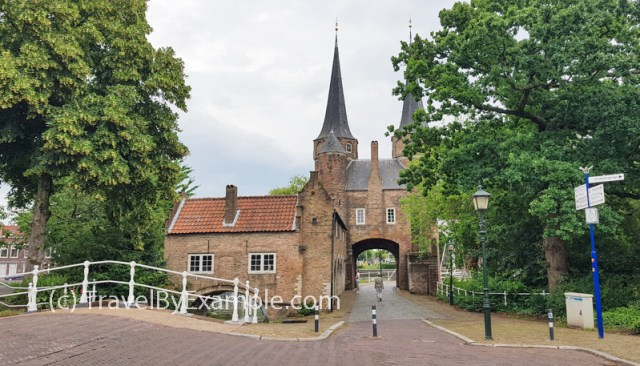 The only remaining city gate in Delft