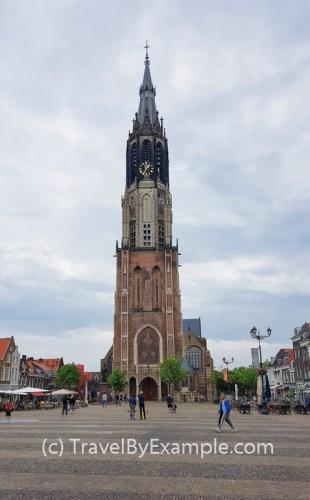 Delft's Nieuwe Kerk - second tallest church tower in the Netherlands
