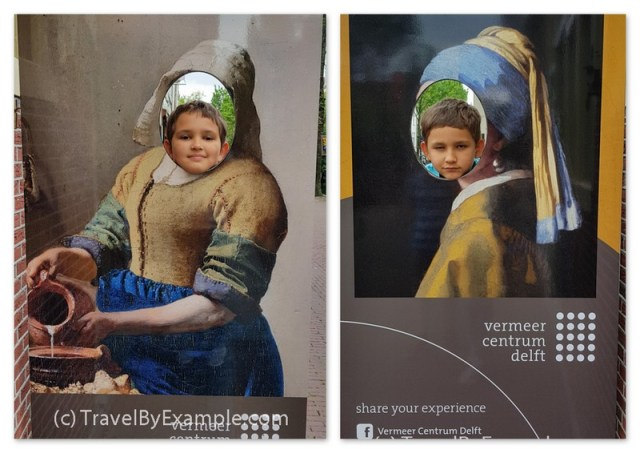 Our version of The Milkmaid and Girl with a Pearl Earring