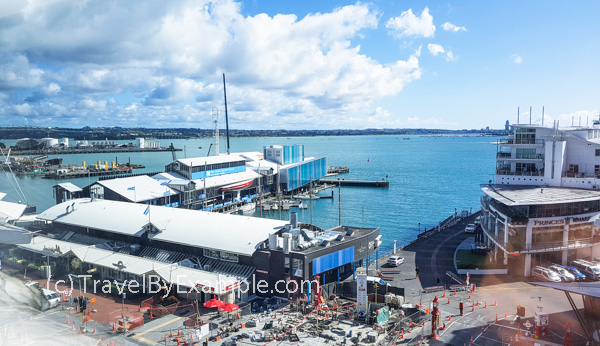 View from the room of our managed isolation in Auckland