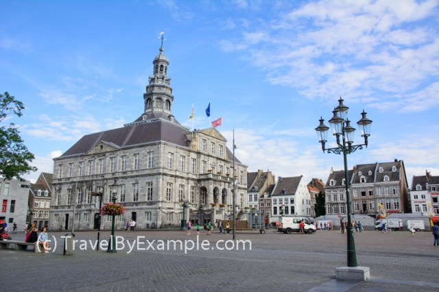 Maastricht City Hall (Stadhuis) and Markt square