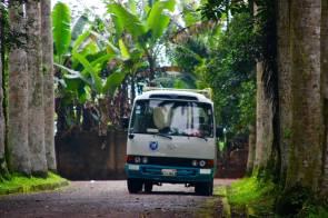 Aburi Gardens car