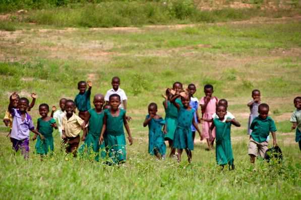 School kids from Gbadzeme