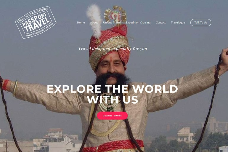 Passport Travel home page
