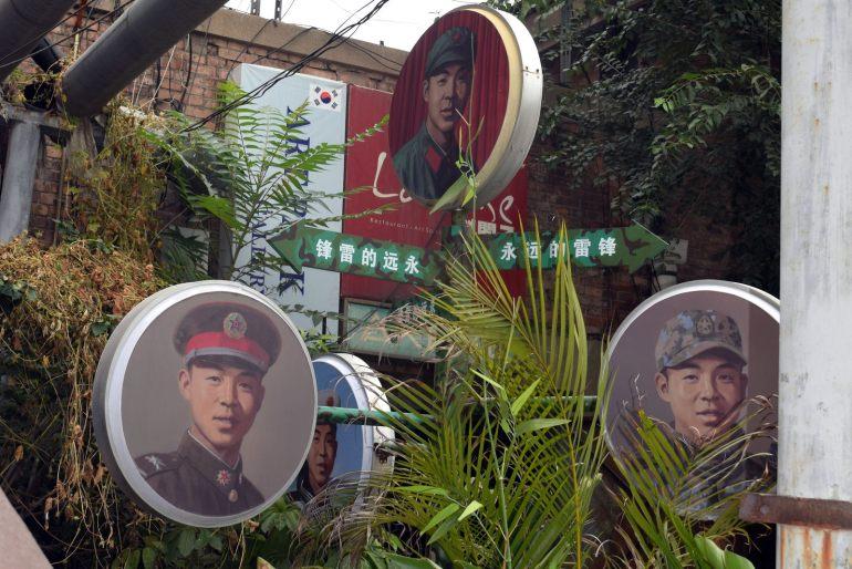 ברבות מהיצירות ברחובות ניתן לראות מאפיינים צבאיים (צילום: טל ניצן)