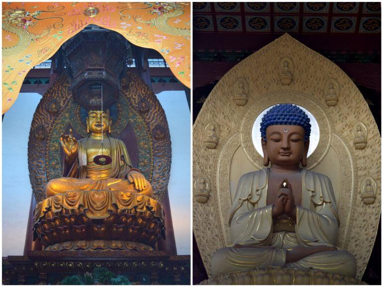 משמאל: בודהה שקיאמוני (צילום: טל ניצן)