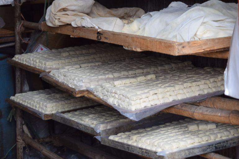 הטופו של ג'יאנשווי לפני צלייה (צילום: טל ניצן)