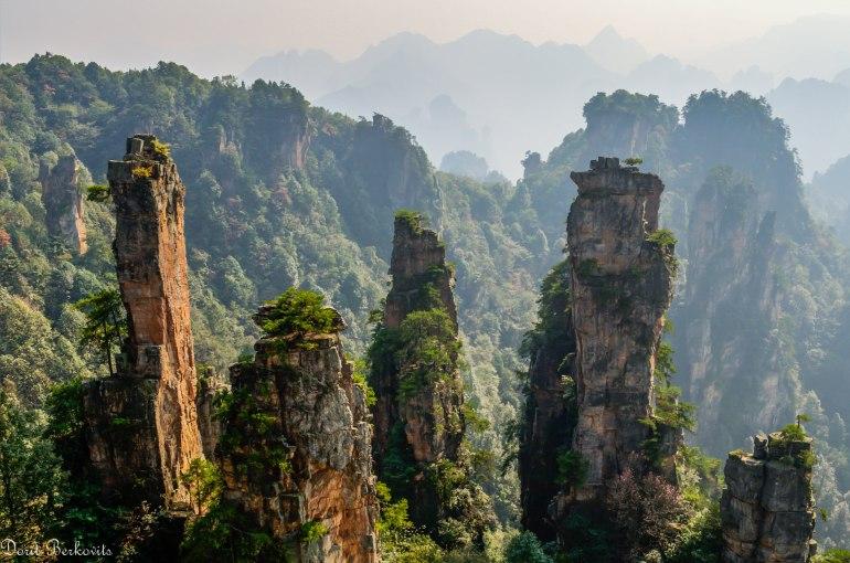 הרים דרמטיים מנומרים בצמחייה ירוקה (צילום: דורית ברקוביץ)