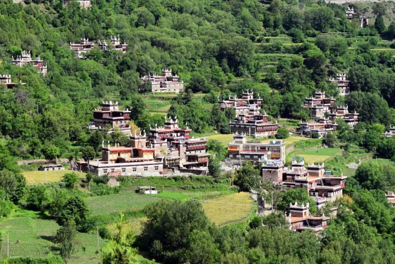 בתי הכפר ג'יאג'ו (צילום: טל ניצן)