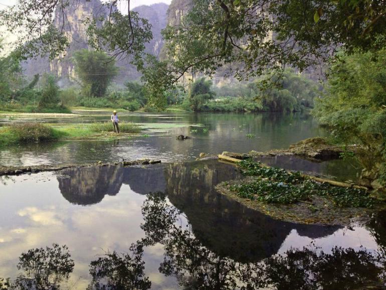 יאנגשואו. גבעות קארסט ושדות חקלאיים ססגוניים (צילום:אריק וואלון)