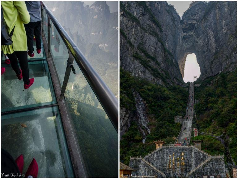 """מימין - שער השמיים; משמאל - """"דרך הזכוכית"""" (צילום: דורית ברקוביץ)"""