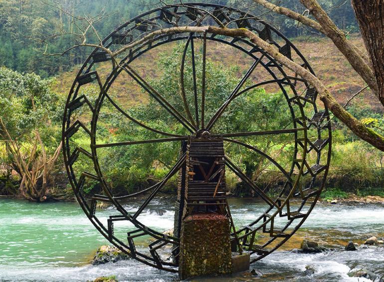 גלגל מים בנחל דואו-יי (צילום: טל ניצן)