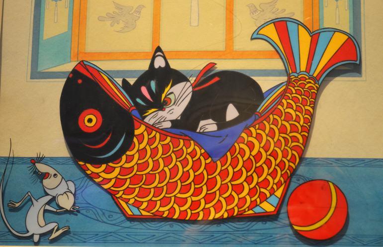 החתול מימי (1979), מתוך תערוכת האנימציה של המוזיאון (צילום: נוגה פייגה)