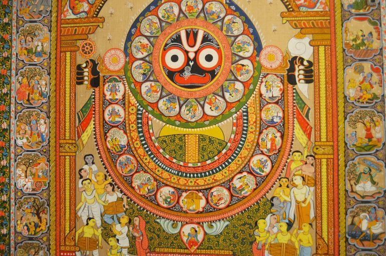 אמנות הודית. מתוך התערוכות המתחלפות (צילום: נוגה פייגה)