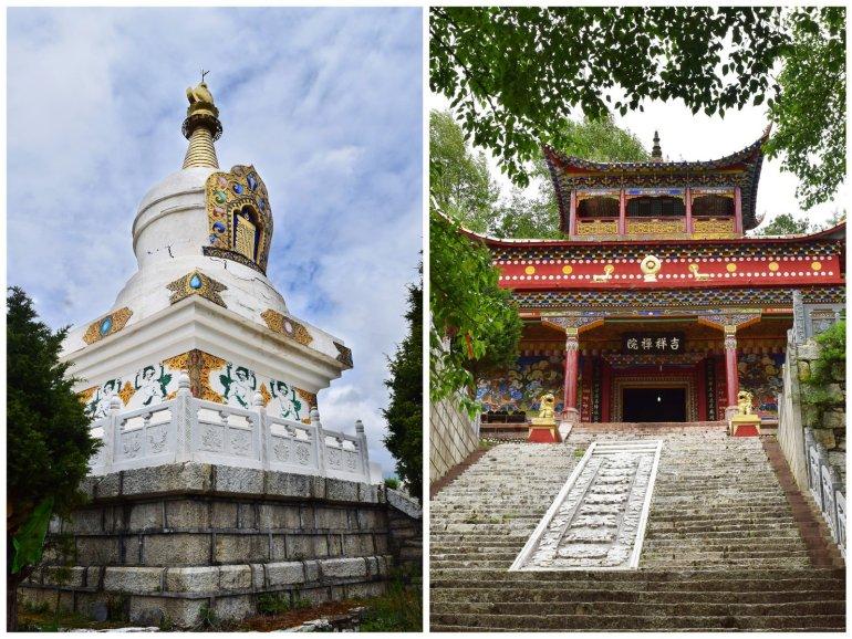מקדשים וסטופות בקאנגדינג (צילום: טל ניצן)