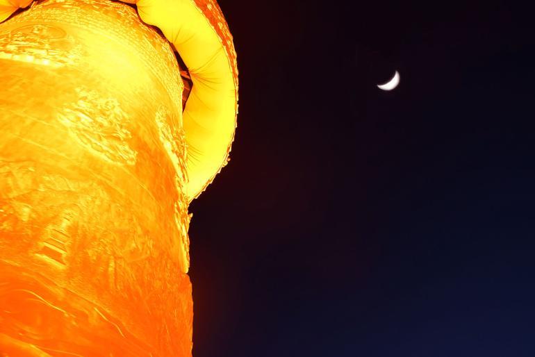 המקדש המוזהב. גלגל התפילה הגדול בעולם (צילום: טל ניצן)