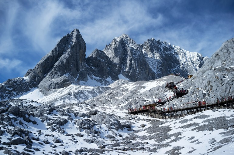 פארק הקרחון. פלטפורמת העץ מובילה לפסגה (צילום: שאטרסטוק)