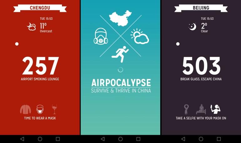 Airpocalypse. הדרך המשעשעת לבדוק זיהום אוויר (צילום מסך: טל ניצן)