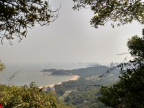 View of Zhuhai south from Shijing Mountain park
