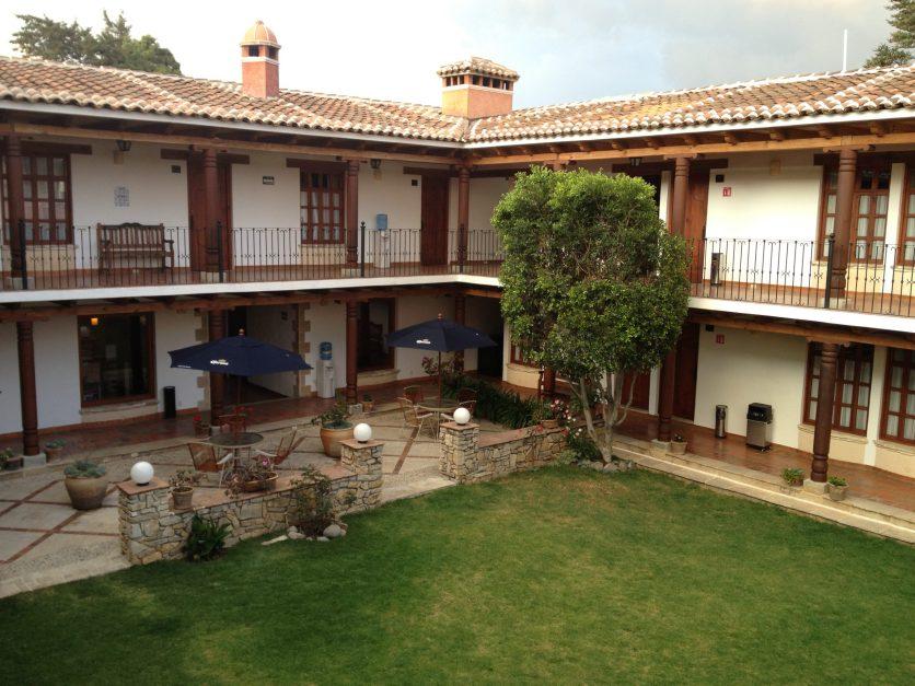 The courtyard garden at Parador Margarita