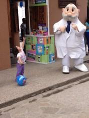 Having fun with the pharmacist!