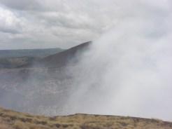 A very active volcano