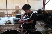 Lacquerware production is a slow process