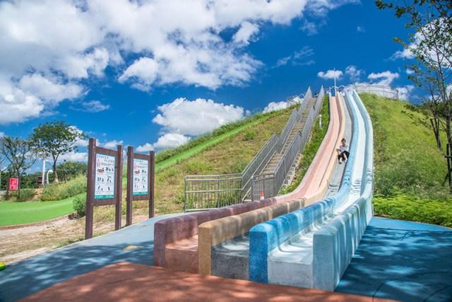 新北市,員山公園,中和,遊逸之丘,滑草,溜滑梯